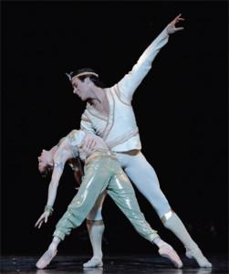 Connor Walsh and Sara Webb in Houston Ballet's production of Stanton Welch's La Bayadere. PHOTO: AMITAVA SARKAR.