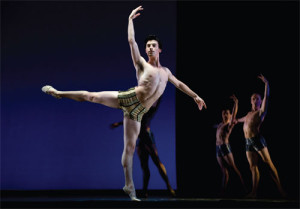Joseph Walsh in Houston Ballet's production of Stanton Welch's Tu Tu. PHOTO: RON MCKINNEY.
