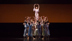 Barbara Bears and Artists of the Houston Ballet in Of Blessed Memory. Photo by Amitava Sarkar.