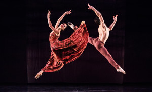 Karina Gonzalez and Charles Louis Yoshiyama in Stanton Welch's Maninyas Photo by Amitava Sarkar.