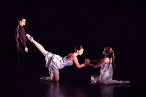 Nicolay Dance Works - 'Facets of the Dreamer' - Robert Clark, Miranda Colley and Kirsten Garner. Photo by Lynn Lane.