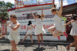 Wishing Well Dancers Shanon Adams, Jacquelyne Boe, Mollie Miller, Tina Shariffskul, Prudence Sun Photo by Ashley Horn